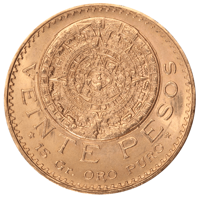 Mexican 20 Peso Back