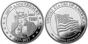 Uncle Sam Commemorative Silver Round