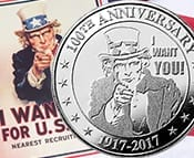 Uncle Sam silver rouind