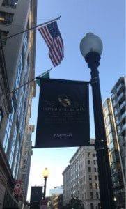 U.S. Mint Street Sign