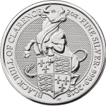 Silver Bullion from Royal Mint's Queens Beast Series