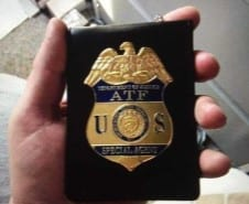 Fake ATF Badge from ICTA Task Force Counterfeit Sting