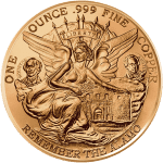 Texas Commemorative Round - Copper