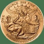 Texas Commemorative Round - Copper