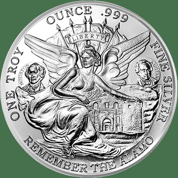 Silver Texas Commemorative Front