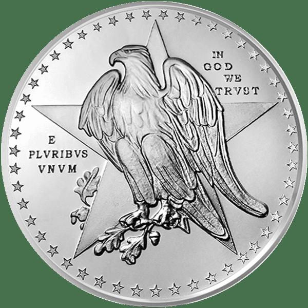Silver Texas Commemorative Back