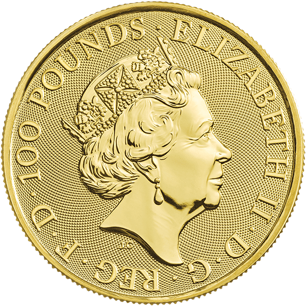 Queen's Beast – Gold Falcon Back