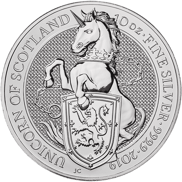 Silver Unicorn of Scotland Front