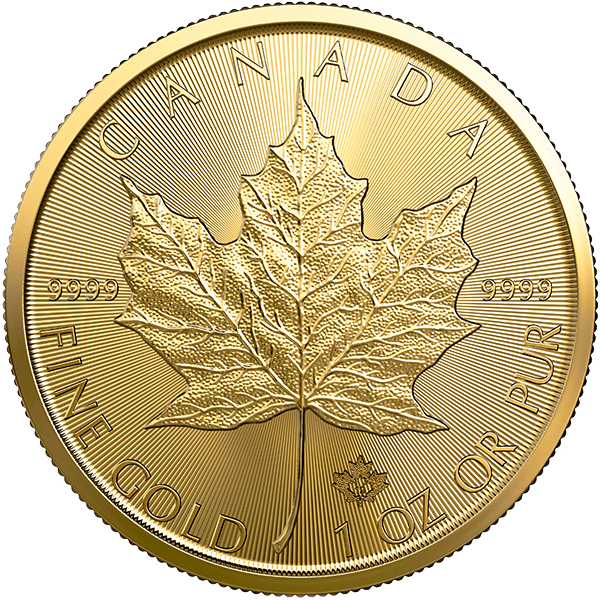 Canadian Gold Maple Leaf 2019 Front