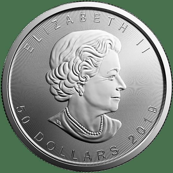 Canadian Platinum Maple Leaf 2019 Back