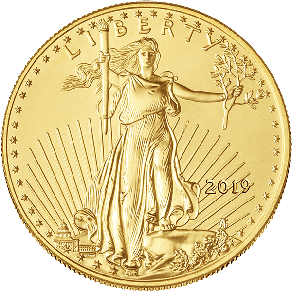 Gold American Eagle 2019 Front