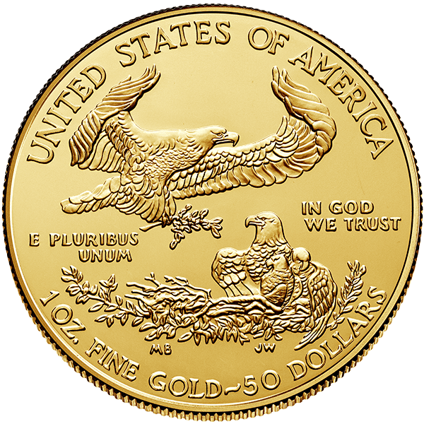 Gold American Eagle 2019 Back