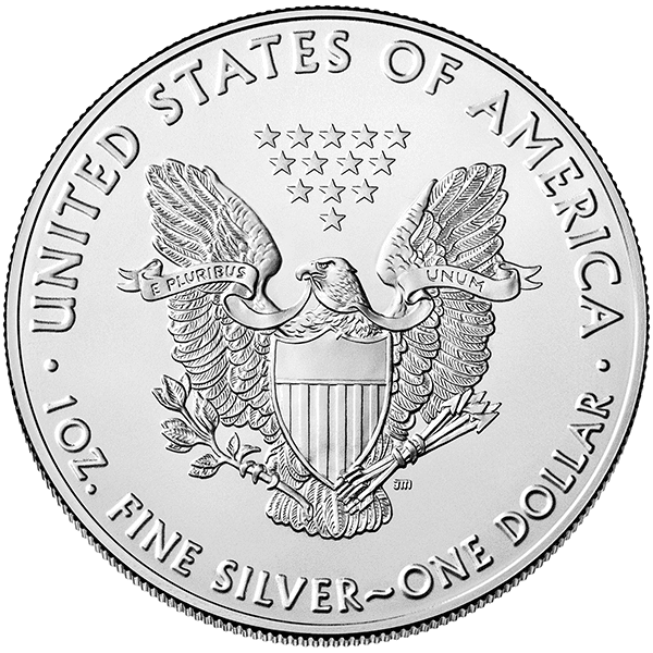 Silver American Eagle 2020 Back