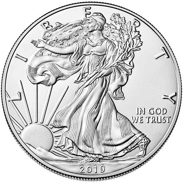 Silver American Eagle 2019 Front