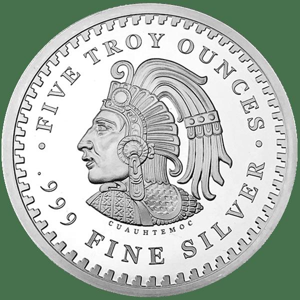 Aztec Calendar Silver Back