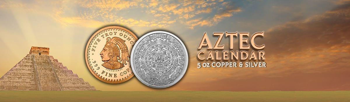 Aztec Calendar round silver