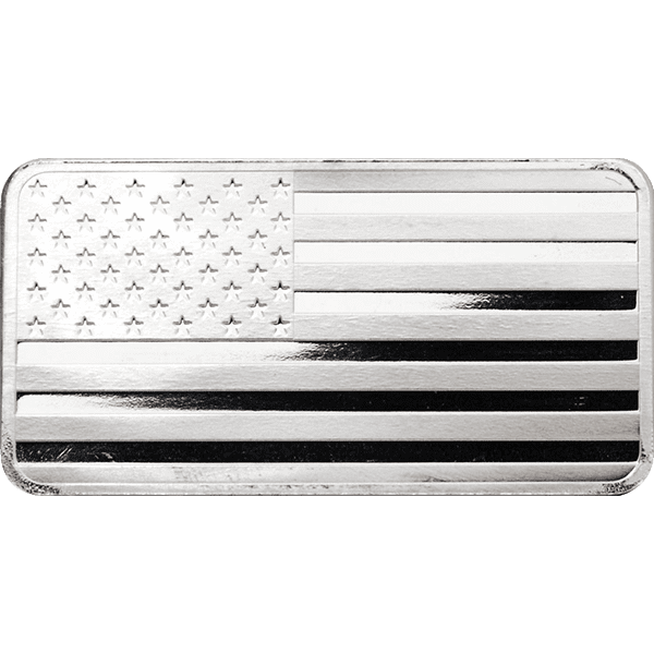 Silver Flag Bar Front