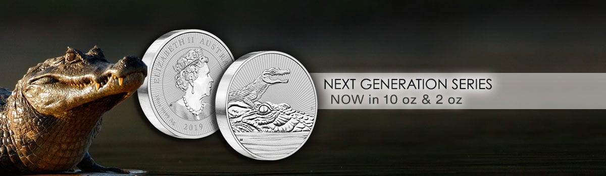 Next Generation Silver 10 ounce Crocodile