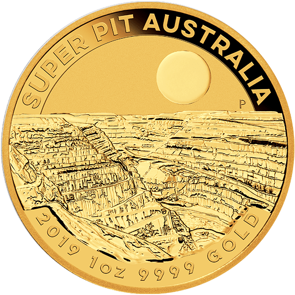 Gold Super Pit Coin Front