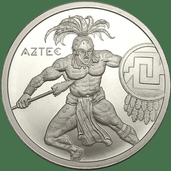 Aztec Warrior Silver Front