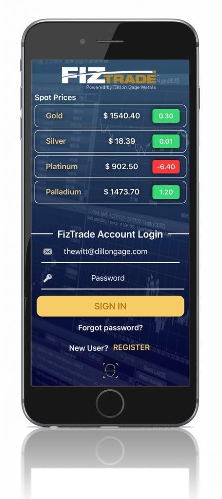 FizTrade Mobile App login