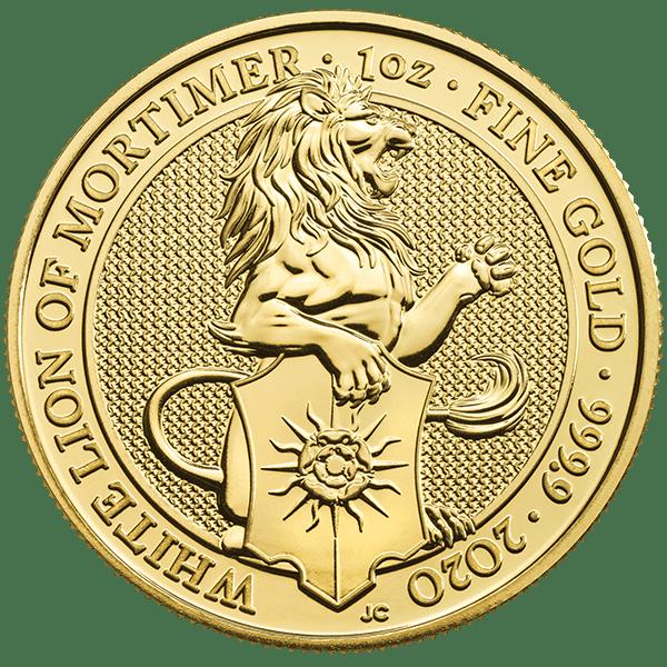 Gold White Lion of Mortimer Front