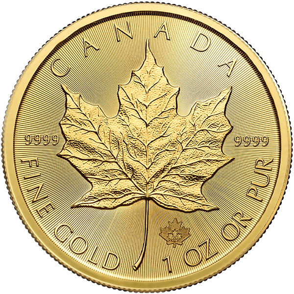 Gold Canadian Maple Leaf 2020 Front