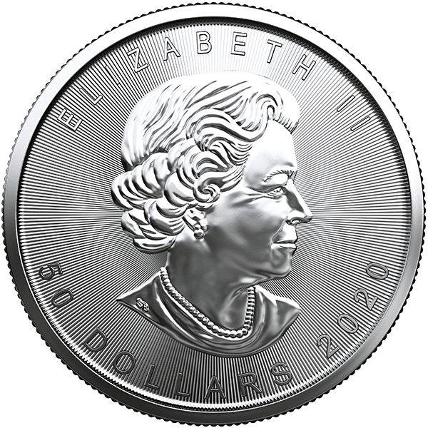 Platinum Canadian Maple Leaf 2020 Back