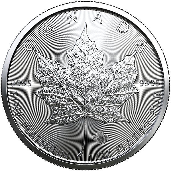 Platinum Canadian Maple Leaf 2020 Front