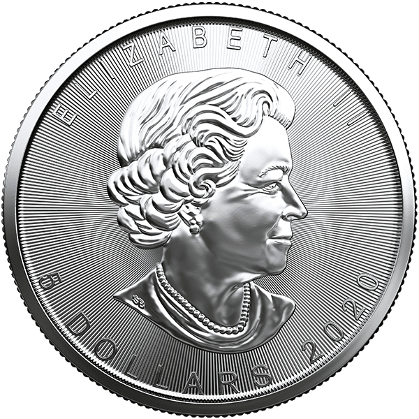Silver Canadian Maple Leaf 2020 Back