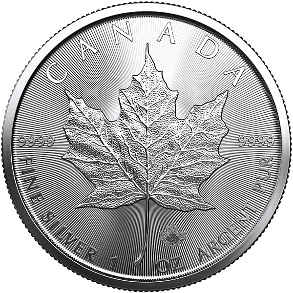 Silver Canadian Maple Leaf 2020 Front