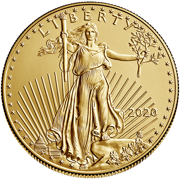 Gold American Eagle 2020 Front