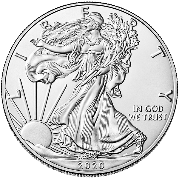 Silver American Eagle 2020 Front