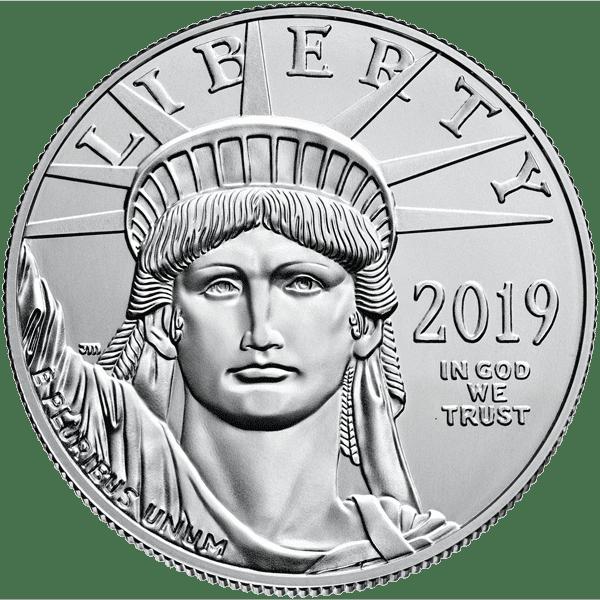 American Eagle Platinum Front