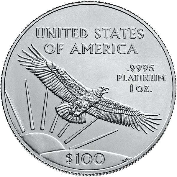 American Eagle Platinum Back