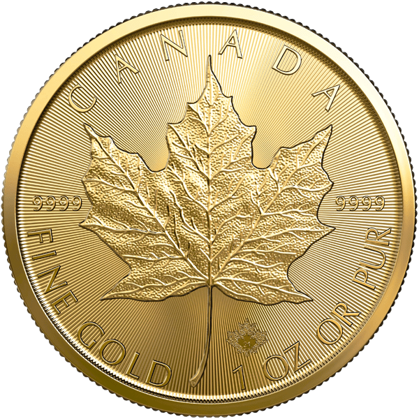 Canadian Gold Maple Leaf Front