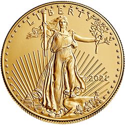 Gold American Eagle 2021 Front