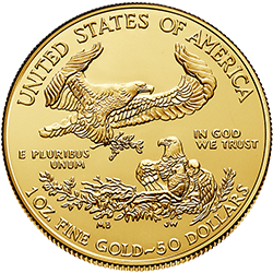 Gold American Eagle 2021 Back
